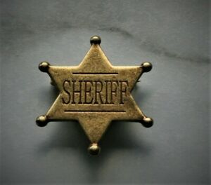 DENIX Six Point Ball Tipped Star Badge Sheriff LARP Cosplay