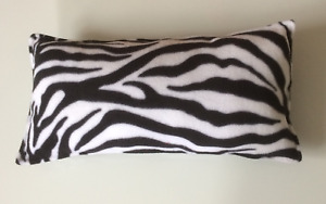 Soft and Cozy Fleece Zebra Print Scatter Cushion - Polyester filled