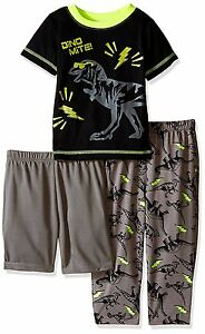 Baby Boys Sleepwear Set Dinosaur Dino Mite 3pc T-shirt Pants Shorts Size 12M