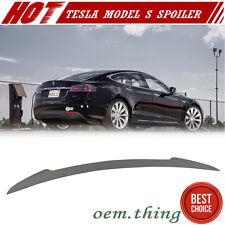 Unpainted For Tesla Model S 4D Sedan V Sport Rear Trunk Spoiler 70D 85D