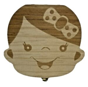 Wooden Baby Girl Tooth Fairy Box Teeth Holder for Kids Lost Teeth Keepsake Save