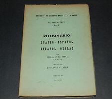 Diccianario Guaro-Espanol Sociedad de Ciencias Naturales La Salle Caracas 1957