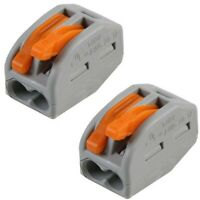 100 PCS  Wago (Type) Electrical Connectors Wire &   Cable (2 pin) *UK SELLER*
