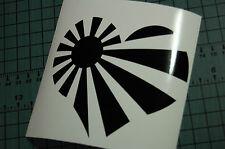 RISING SUN HEART Decal Vinyl JDM Euro Drift Lowered illest Fatlace