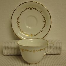 Royal Worcester GOLD CHANTILLY Cup & Saucer Set BEST! More Items Available