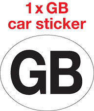 1x GB Car/Van/Caravan waterproof sticker