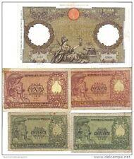 100 lire 11 06 1942 + 50 + 100 lire 1951 bolaffi e di cristina lotto.1052