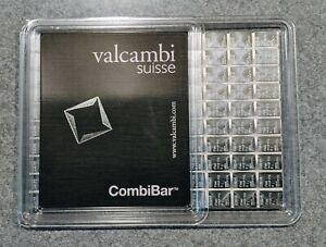Valcambi 100 - 1 Gram (100x1) Combibar Sheet 999 Pure Fine Silver Bar Bullion