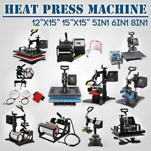 DIY Printer 5in1 6in1 8in1 Digital Heat Press Multifunction Machine