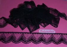 3 metres of   Black  Flat  Lace  40 mm wide          Great Value