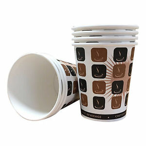 Disposable Paper Coffee Tea Cups & Sip Lids-8oz,10oz,12oz,16oz Catering-Takeaway