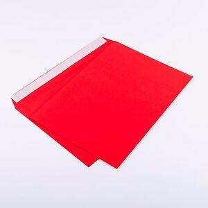 100 Briefumschläge DIN C5 Rot ohne Fenster162 x 229mm 120g/m² haftklebend (306A)