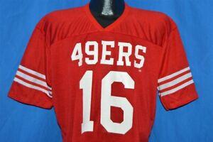 vintage 80s SAN FRANCISCO 49ERS JOE MONTANA 16 JERSEY t-shirt FOOTBALL LARGE L