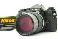 【Exc+5】Nikon FE2 Black Film Camera w/ Nikkor Ai-s 135mm f/2.8 MF Lens from JAPAN