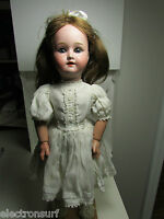 "Antique German Schoenau & Hoffmeister Bisque Head Doll 18"" SPBH Mold 1909"