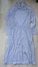 Ladies Vintage 1970/1980s 'Charade by Berkertex' Silver-Grey Dress Size 16