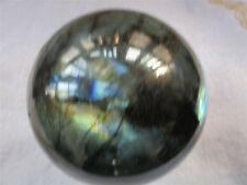 Natural Amazing Rainbow Labradorite Sphere Ball Spectrolite Reik 870g