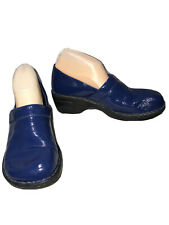 BORN WOMENS CLOGS SHOES BLUE LEARHER UPPER SIZE 9M