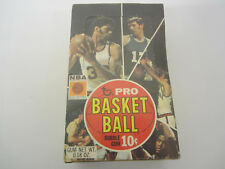 Vintage 1970-71 Topps basketball 10 cent empty wax box RARE