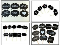 ds 10  Cardboard Signs Speech Bubbles Photo Booth Props Wedding Party DSUK