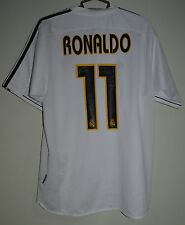 REAL MADRID SPAIN 2003/2004 HOME FOOTBALL SHIRT JERSEY ADIDAS RONALDO REPLICA