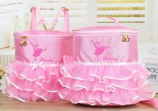 UK Stock Cute Kids Girls Pink BALLET Shoes Bag Handbag Dancing Bag Backpack