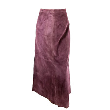 Brandon Thomas Size 16 Leather Maxi Skirt Long Wine Lined Washable Career Modest