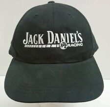 Jack Daniels Old # 7 Racing Cap Hat  Black with White Embroidery