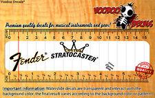 Fender Stratocaster CUSTOM Restoration Waterslide Decal