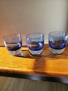 DANSK International Designs LTD colbolt blue glass  with clear bottles
