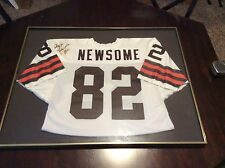 Ozzie Newsome Autographed Framed Cleveland Browns Jersey White NFL Hall Of Fame