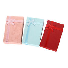 3  x Bowknot Jewelry Necklace Bracelet Bangle Gift Boxes Package Three Colors