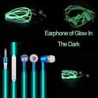 3.5mm In Ear Stereo Luminous Headphone Headset Super Bass Music Earphone Earbuds