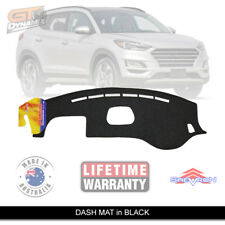 BLACK Dash Mat Hyundai Tucson Facelift MY19 GO ACTIVE X Elite + 6/2018-19 DM1528