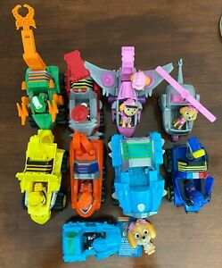 PAW PATROL LOT of 9 vehicles and 11 figures great condition!