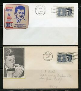 UNITED STATES 1964  JOHN F. KENNEDY 24  DIFFERENT CACHETED  FIRST DAY COVERS