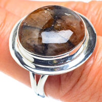 Chiastolite 925 Sterling Silver Ring Size 8.5 Ana Co Jewelry R58062F