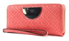 GUESS Bourse Anuka SLG Large Zip Around Coral
