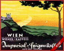 VINTAGE WIEN VIENNA AUSTRIA VACATION TRAVEL AD POSTER ART REAL CANVAS PRINT
