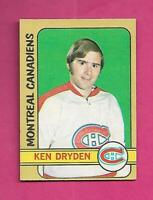 1972-73 OPC # 145 CANADIENS KEN  DRYDEN  2ND YEAR GOOD CARD (INV# C9251)