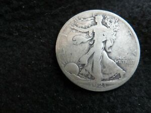 "1921-D Silver Walking Liberty Half Dollar ""THE KEY DATE"" #1"