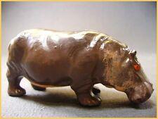 BF Hippopotame amphibie, Animaux du Zoo ou du Cirque, plomb creux (antique toys)