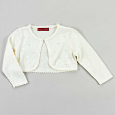 """Princess Faith Little Girls' Toddler """"Pearl Scattered"""" Shrug Cardigan size M"""