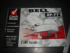 CZECH MODEL BELL XP-77 RESINE ET PLASTIC MODEL 1/48