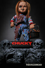 Ultimate Collection Sideshow CHUCKY life size doll Diorama Statue + Art Painting