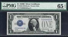 $1 1928B  Silver Certificate. FB Block. PMG 65 EPQ. Fancy Serial Number