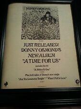 Donny Osmond A Time For Us Rare Original Promo Poster Ad Framed!