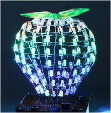 Bluetooth WAV MP3 Musikspektrum Lichtwürfel RGB LED Kubikkugel DIY 320kbps 3W