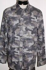 Michael Kors Hombres XL Camuflaje / Manga Larga Botón-para Arriba Camisa