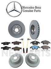 For Mercedes W212 E350 Sedan Front & Rear Brake Disc w/ Pad & Sensor KIT Genuine